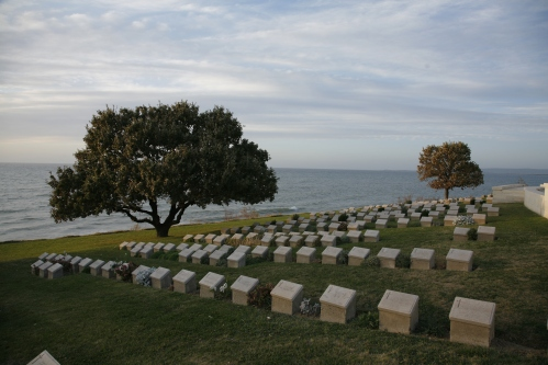 HEADSTONES AT ANZAC COVE